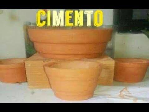 Como Se Faz Vaso De Cimentos Imitando Ceramica Passo A