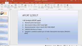 AFCAT 2/2017 question answer and Expected cut off