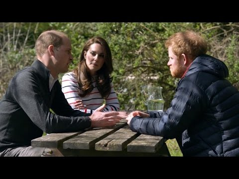 Thumbnail: Prince William and Harry open up about mother's death with Duchess Kate