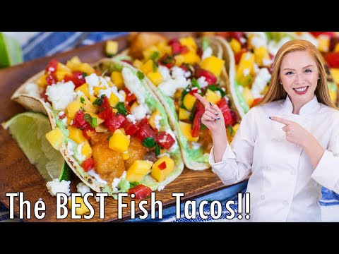 The BEST Fish Tacos With Mango Salsa