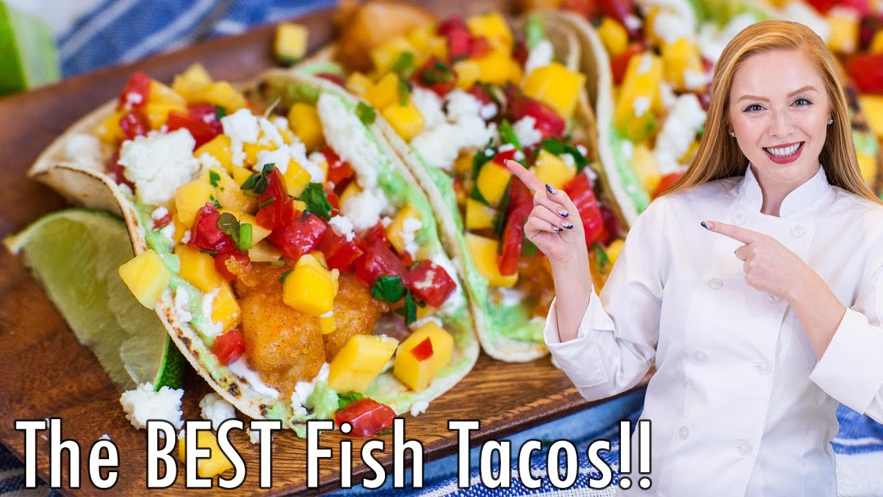 The best fish tacos with mango salsa youtube for The best fish tacos