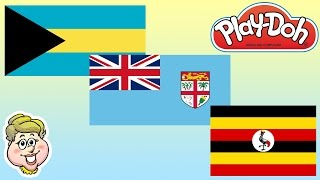 Play-Doh Flags! Bahamas, Fiji, and Uganda! EWMJ #206