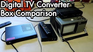 Digital TV Antenna Experiments 03: Converter Box Zenith DTT901, RCA DTA800b1L, Airlink 101 ATVC102