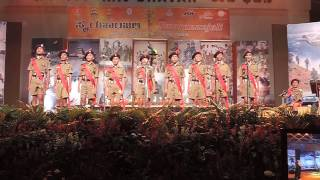 Sainik School Bijapur  Smarananjali at Raj Bhavan, hum honge kaamyaab ek din  2
