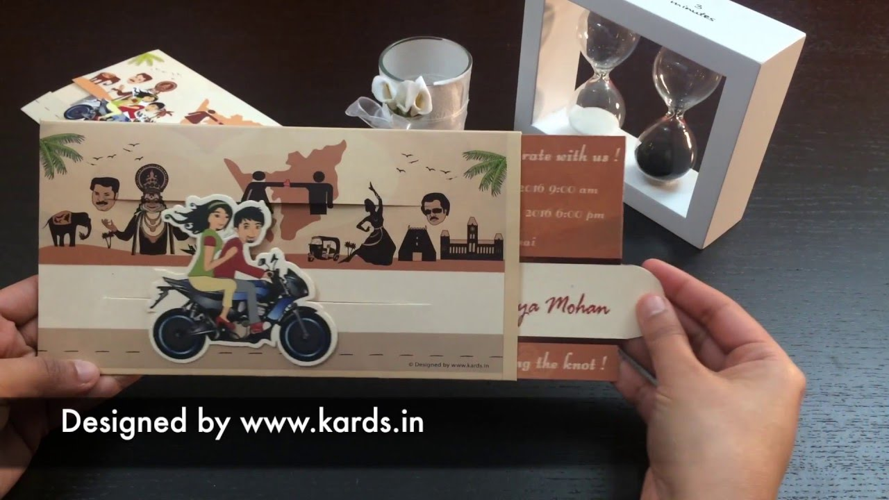 unique bike moving wedding invitation kards wedding invitations