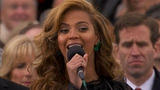 Beyonce performs the national anthem at President Barrack Obama's P...