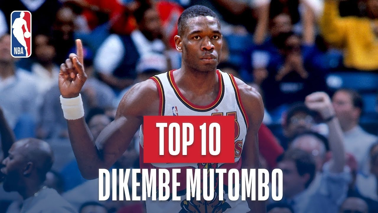 Dikembe Mutombo Top 10 Blocks Of His Career Youtube
