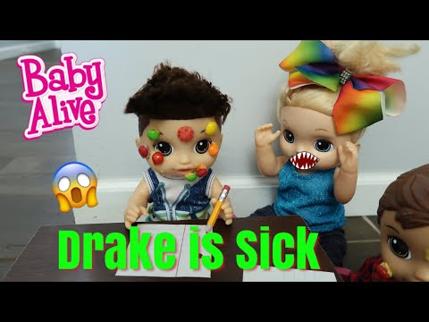 BABY ALIVE Sick Drake Has The Skittles Pox baby alive videos