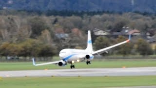 Storm 'Herwart' All Crosswind landings and go-arounds at SZG incl. Enter Air near crash thumbnail