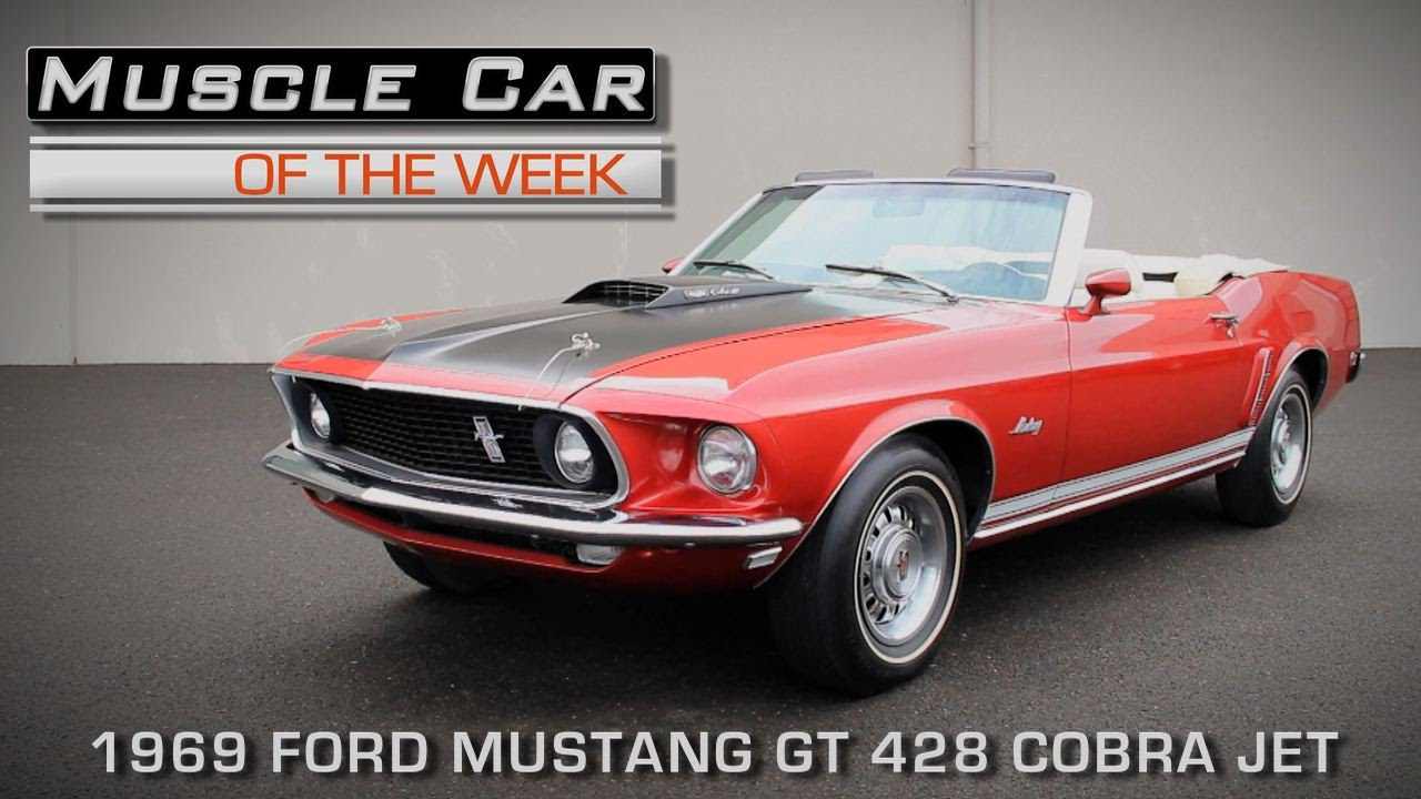 Muscle car of the week video episode 149 1969 ford mustang gt 428 cobra jet youtube