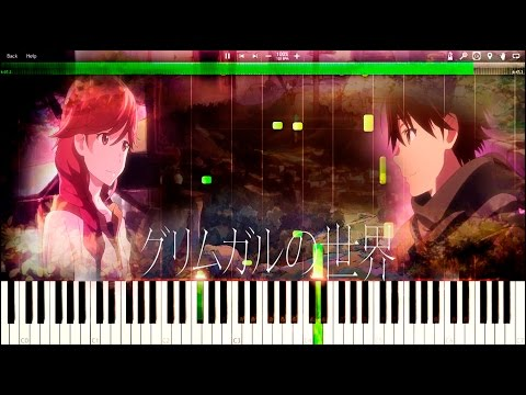Hai to gensou no grimgar - Seeds - Episode 2 Insert song (Piano TUTORIAL + SHEETS - Synthesia)