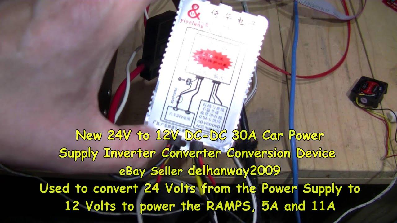 protomaker 3d printer heat bed ssr test success ramps 1 4 via 24 volts [ 1280 x 720 Pixel ]