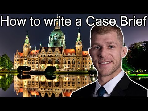 How to Write A Case Brief