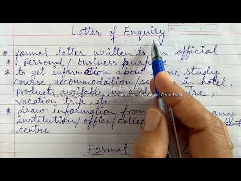 Letter Of Enquiry For Class 10-12 CBSE - Format And A Sample Letter