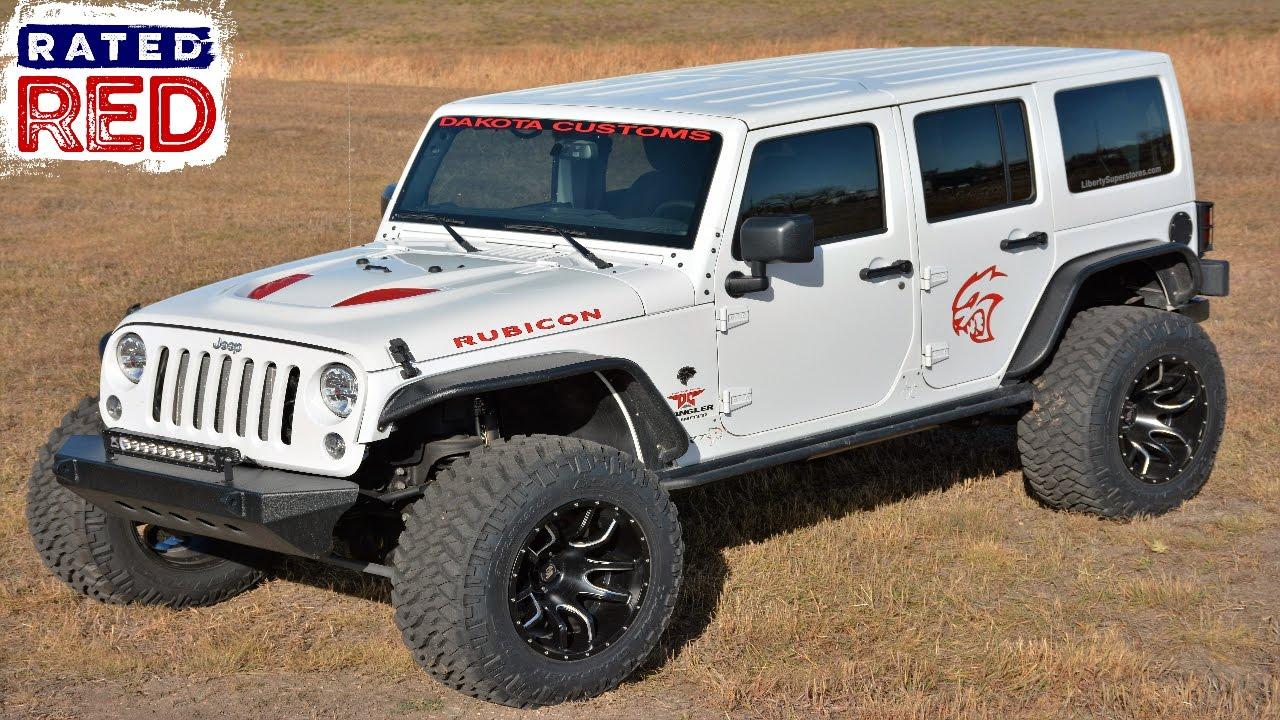 Jeep Wrangler Hemi >> Check Out the Hellcat-Powered Wrangler - YouTube
