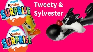 Unwrapping Looney Tunes Tweety Bird and Sylvester Kinder Surprise - Little Surprises