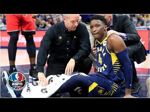 Victor Oladipo suffers major leg injury, Pacers hold off Raptors | NBA Highlights thumbnail