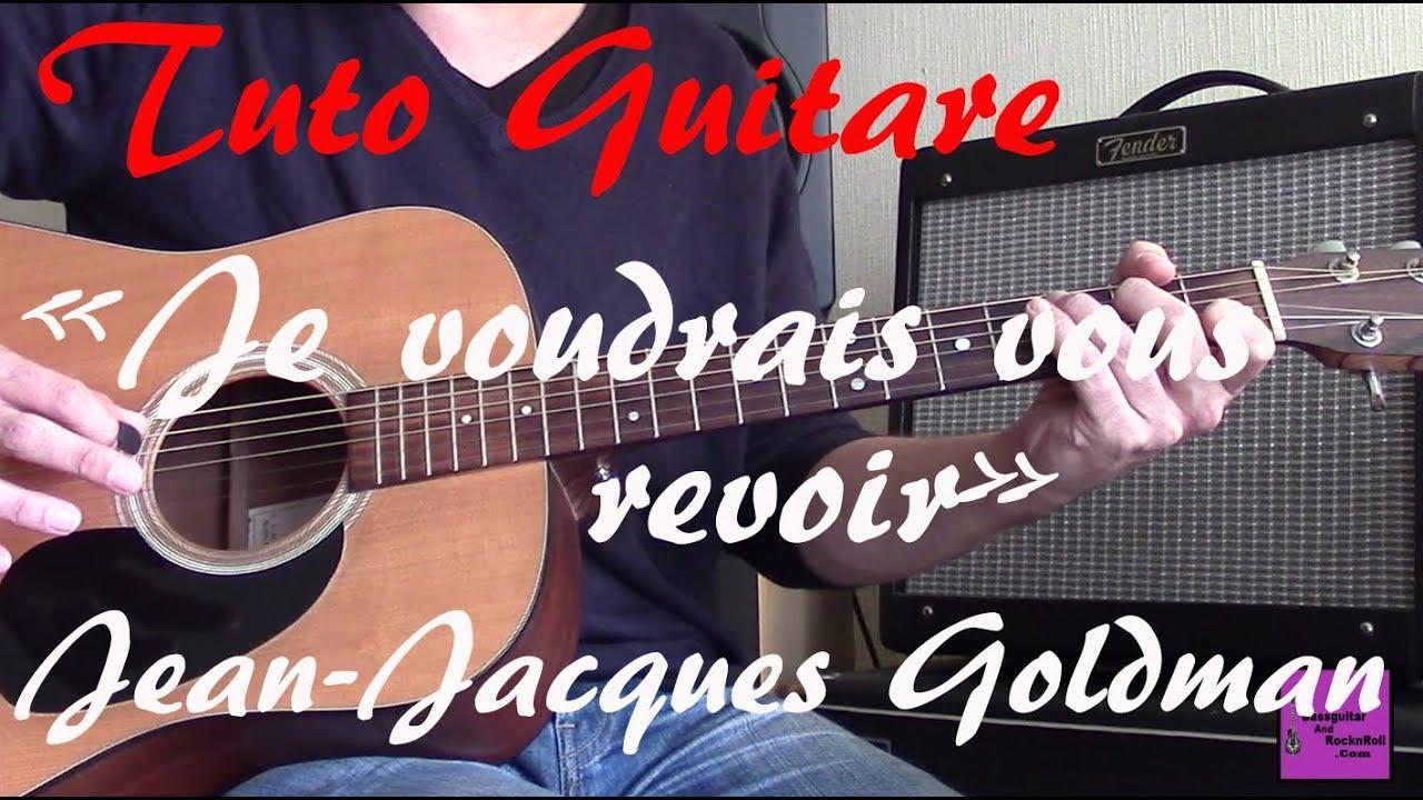 Tuto guitare - Je voud...1 2 3 Goldman Guitare
