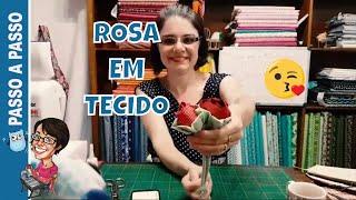 Como Fazer Rosa em Tecido – Passo a Passo Paninhos
