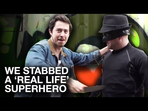WE STABBED A REAL LIFE SUPER HERO