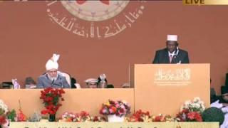 Hon. Ansuman Kiyingi, Minister of Foreign Affairs, Uganda at Ahmadiyya Muslim Jalsa UK 2011