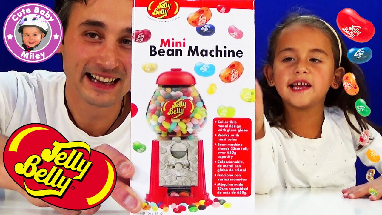 jelly belly beans machine mini spender f r geleebohnen test review kinderkanal youtube. Black Bedroom Furniture Sets. Home Design Ideas