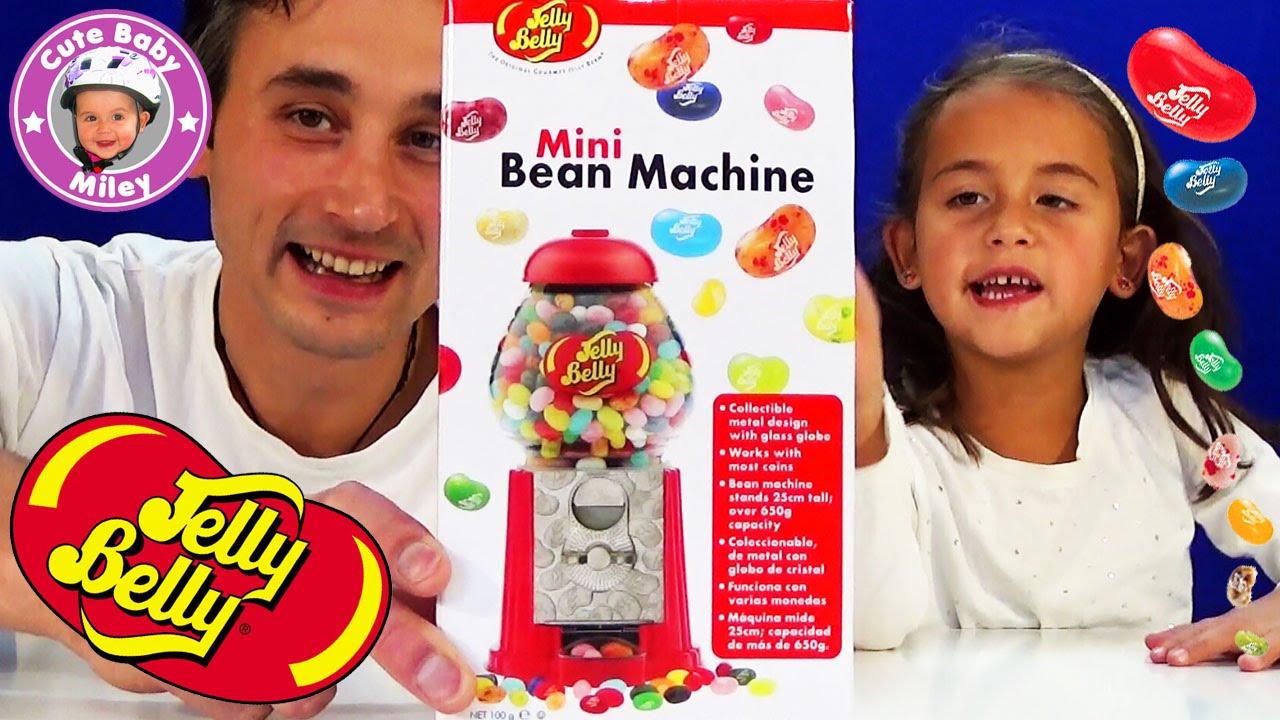 jelly belly beans machine mini spender f r geleebohnen test review kinderkanal youtube. Black Bedroom Furniture Sets. Home Design Ideas