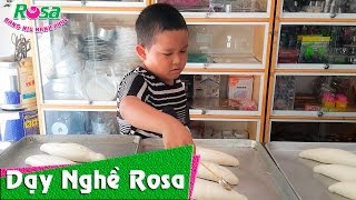 Bé Long 5 tuổi làm bánh mì Việt Nam - Baby 5 years old making Vietnamese sandwich
