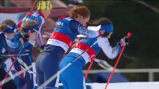 Эстафета Женщины Чемпионат Европы и финал Кубка мира по спортивному ориентированию на лыжах 2020