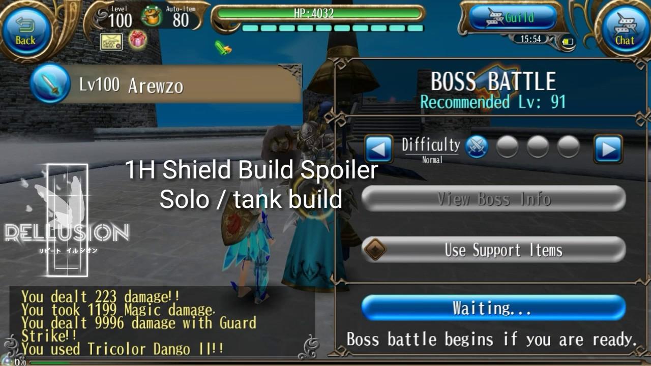 1H Shield Solo Tank Build Spoiler -Toram Online