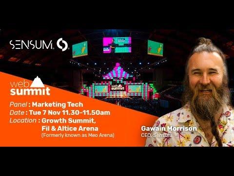 Sensum Growth Summit panel at Web Summit 2017