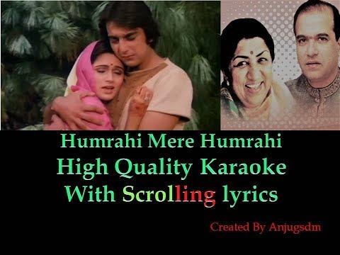 Humrahi Mere Humrahi || Do Dilon Ki Daastan 1985 || karaoke with scrolling lyrics (High Quality)