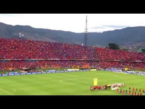 Salida Histórica Independiente Medellín - Más de 40.000 Banderas reciben al equipo