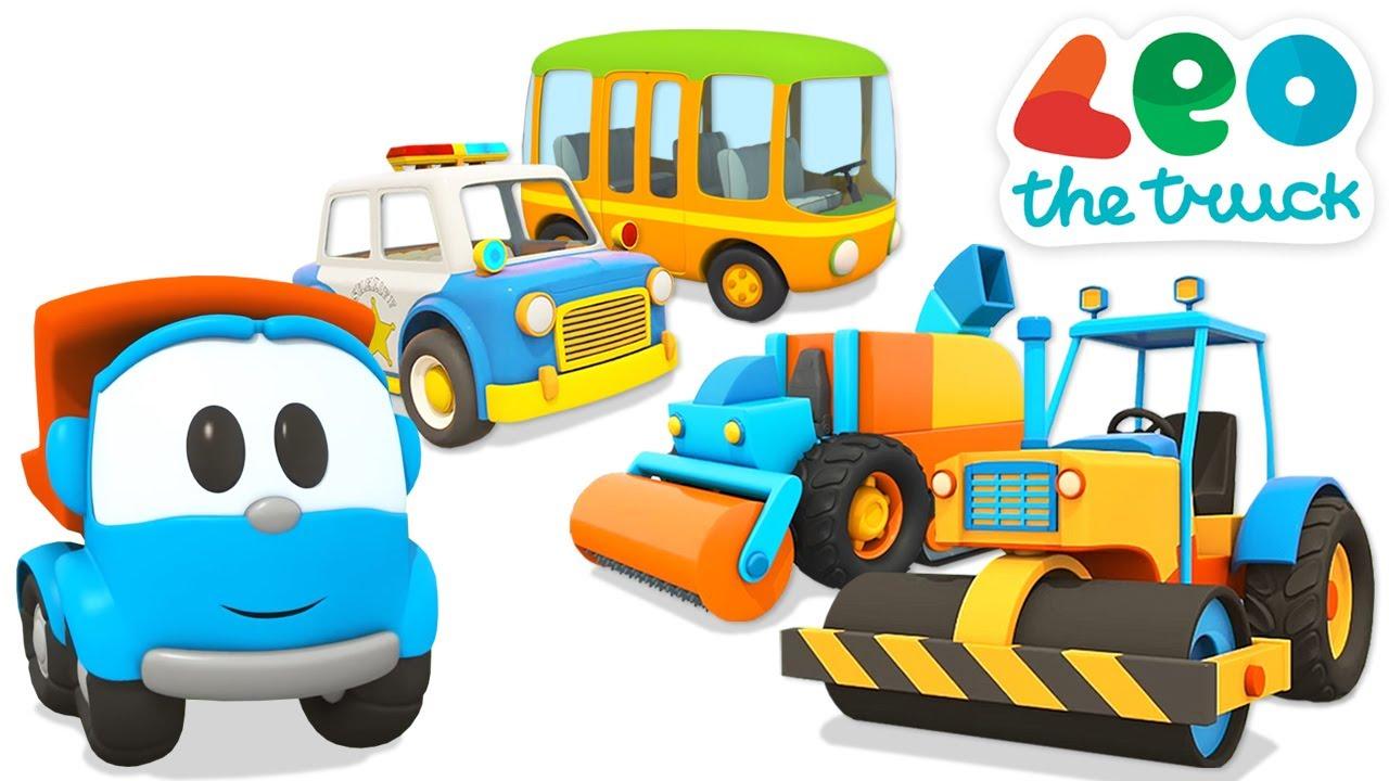 Car cartoons full episodes & Leo the truck cartoon for kids - Street vehicles & big trucks for kids.