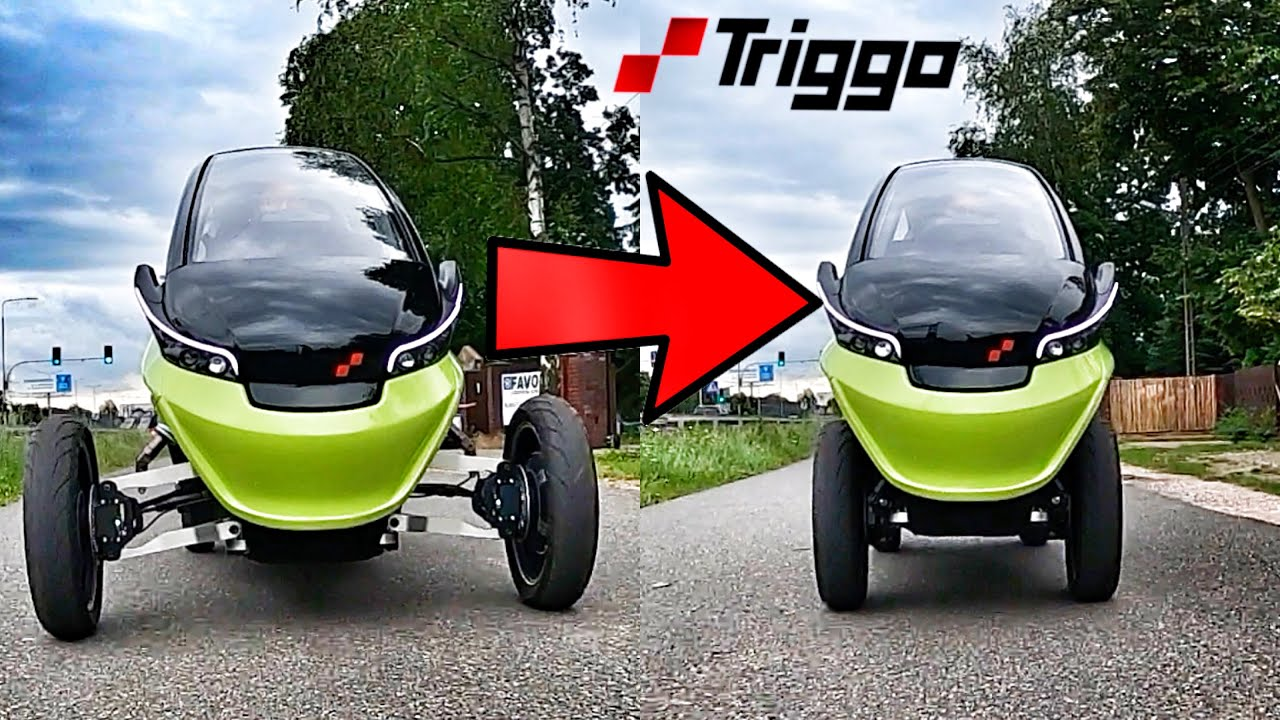 TRIGGO - First Experience - The Variable Width Drive-by-Wire Tilting Electric Vehicle of the FUTURE
