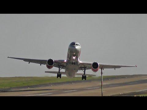 Crosswind Landings & Go Arounds At Leeds Bradford Airport HD