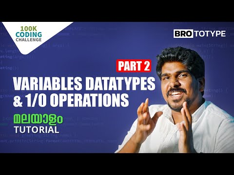Part 2 | Variables Datatypes & I/O Operations | C Programming Malayalam Tutorial | Crossroads
