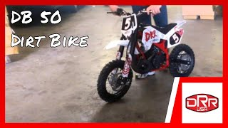 New! DRR DB 50 Kids Performance Mini Pee Wee Dirt Bike Test