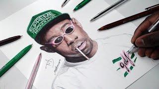 Tyler, The Creator Pen Drawing - DeMoose Art