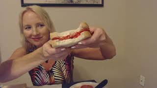 ASMR | Making & Eating Tomato Sandwiches