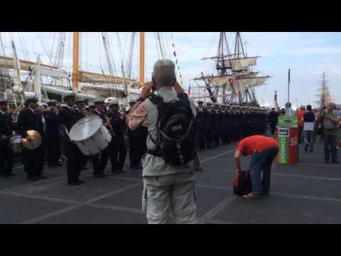 Sail 2015 Amsterdam. Banda de la Marina de Chile. Chileense Marine fanfarekorps.
