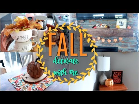 🎃 FALL CLEAN AND DECORATE WITH ME 2019 | Fall decor ideas | Fall home tour