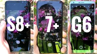 Galaxy S8 vs iPhone 7 plus vs LG G6 Camera Comparison!