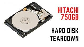 Inside a Hitachi 750GB 2 5'' HDD