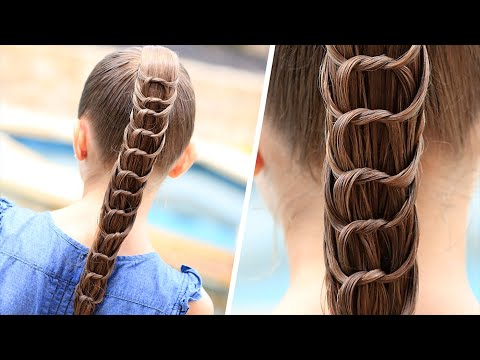 create knotted ponytail