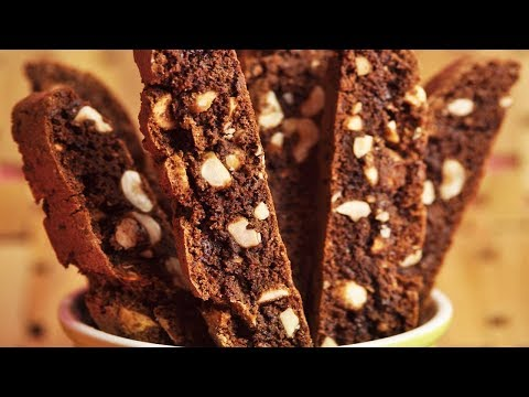 Chocolate Hazelnut Biscotti Recipe Demonstration - Joyofbaking.com