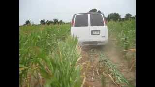 Driving a Van Over a Corn Field