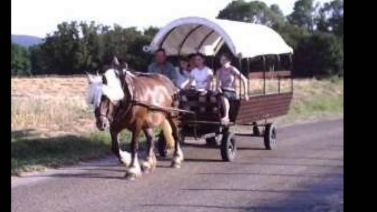 vacances en roulotte cheval s jour en chariot hyppomobile youtube. Black Bedroom Furniture Sets. Home Design Ideas
