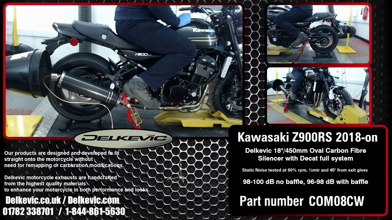 KAWASAKI Z900RS 2018-19 FULL EXHAUST SYSTEM 450mm STAINLESS