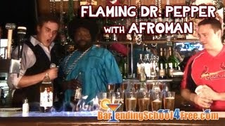 Flaming Dr. Pepper Shot With Afroman (at French Quarter Bar In St. Louis)